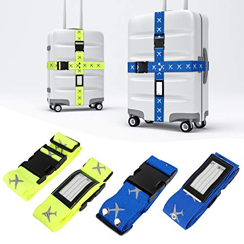 Correas de Equipaje, Mture Correas Ajustables Maleta equipaje Seguridad Correas Accessorios de Viaje 4 Pack