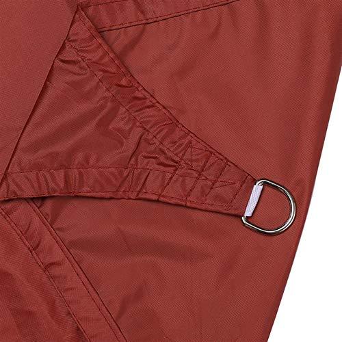 Gycdwjh Vela de Sombra Triángulo, Protección Rayos UV Toldos Material de Poliéster Resistente y Transpirable Toldo Vela con Cuerda Fija para Patio Exteriores Jardín 10 * 10 * 10FT,Rust Red
