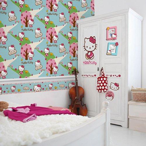 Sanrio Hello Kitty Waldspaziergang Bordüre 90-044 Selbstklebende Tapetenbordüre