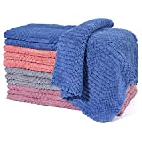 Dish Cloths - Dish Towels Ultra Absorbent, 12 Pack Dish Towels for Kitchen, Reusable Cleaning Towels Easy Care, Durable Kitchen Towels, Cleaning Rags 11.8 inch X 11.8 inch Drying Fast