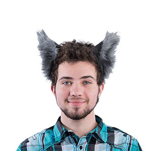 Pawstar Classic Wolf Ear Headband Costume Furry Ears – Gray