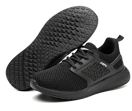 Botas de Seguridad para Hombre Mujer Unisex con Puntera de Acero Antideslizante Calzado Zapatos de Seguridad Deportivo Trabajo Ligero Negro 41 EU