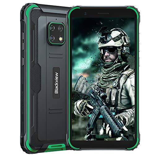 Blackview BV4900 (2020) Android 10 4G Cellulare Robusto, 3GB RAM 32GB ROM Espansione da 128 GB, Fotocamera Impermeabile 8 MP + 5 MP, Batteria da 5580 mAh, Doppia SIM GPS NFC IP68 Smartphone Verde