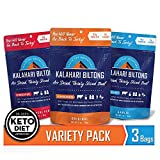 Variety Pack Kalahari Biltong, Air-Dried Thinly Sliced Beef, 2oz (Pack of 3), Sugar Free, Gluten Free, Keto & Paleo, High Protein Snack