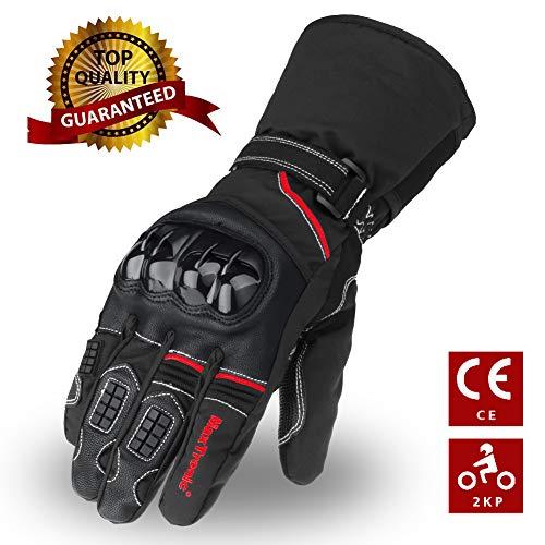 Guantes de moto invierno, guantes de Scooter cálidos Thinsulate 3M Pantalla...