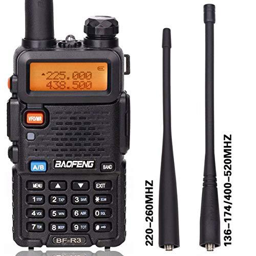 BaoFeng BF-R3 Tri-Band 136-174/220-260/400-520 MHz VHF/UHF Amateur Portable Hamster CB Radio Comunicador Transmitter Two Way Radio