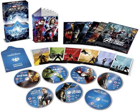Marvel Studios Collector's Edition Box Set - Phase 1 - 7-Disc Boxset ( Iron Man / The Incredible Hulk / Iron Man 2 / Thor / Captain America: The First Avenger / [ UK Import ] (Blu-Ray)