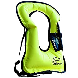Rrtizan Adult Inflatable Snorkel Vest Portable Life Jacket - Best Life Vests