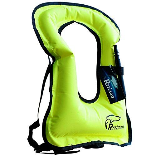 Rrtizan Children Portable Inflatable Life Jacket Snorkel Vest,Swimming Life Vest for Boys & Girls