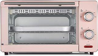 Mini Horno De Sobremesa De 11L, Doble Parrilla Y 60 Minutos De Tiempo, Incluida La Bandeja De Escoria Separada, 8 Pulgadas De Pastel De Gasa / 8 Alitas De Pollo / 6 Tartas De Huevo 1000w Azul Rosa