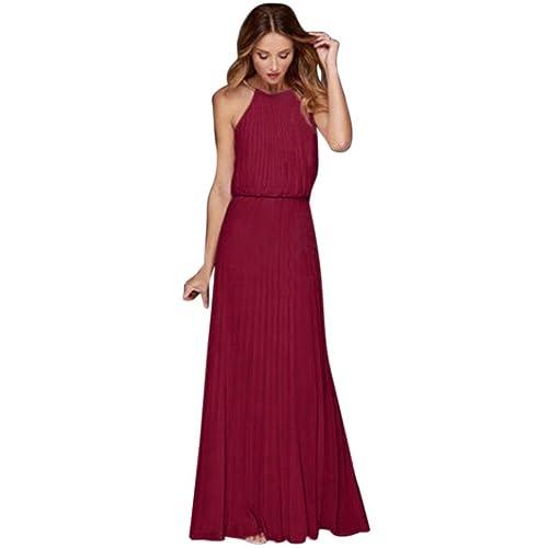 beautyjourney Vestiti Donna Lungo Taglie Forti Estivi Eleganti da Cerimonia Vestito  Lungo Donna Cerimonia Abiti Abito 15cf9dccf6b