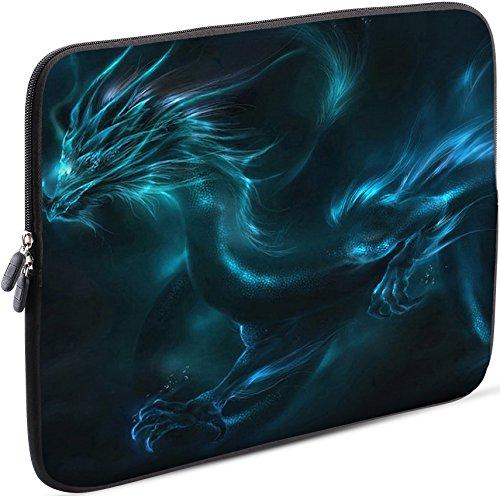 Sidorenko Laptop Tasche für 15-15,6 Zoll - Universal Notebooktasche Schutzhülle - Laptoptasche aus Neopren, PC Computer Hülle Sleeve Hülle Etui, Grün