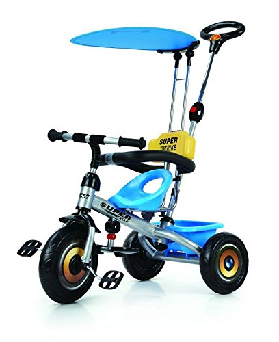 Baybee Duster Tricycle with Cycle with Canopy (Blue-Black)