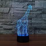 Tianyifengg 3D-LED-7 télécommande Couleur télécommande-Nuit lumière-Girafe Lampe...