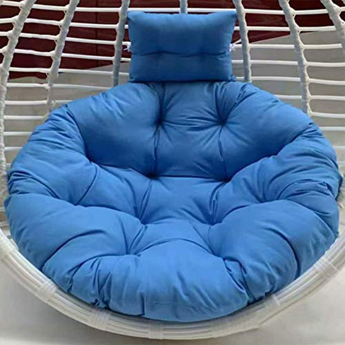 ZQDDBA Dicker Hängesessel Swing Nest Kissen, abnehmbare Wäsche Bequeme runde Polster Ei Hängematte Sitz Polsterung Stuhllehne Mit Kissen Himmelblau 100x100cm (39x39inch)