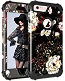 Pandawell Compatible iPhone 6s Case iPhone 6 Case Floral 3 in 1 Heavy Duty...