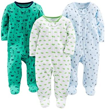 Simple Joys by Carter s Baby Boys 3 Pack Sleep and Play Sports Cars Dino without Cuffs 6 9 Months product image