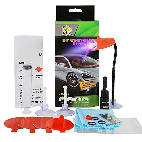 New DIY Windshield Repair Kit, with UV Curing Light, Fast Repair, Car...