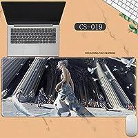 素敵なマウスパッド特大アイスプリンセスゴーストナイフ風チャイムプリンセスアニメーション肥厚ロック男性と女性のキーボードパッドノートブックオフィスコンピュータのデスクマット、Size :400 * 900 * 3ミリメートル-CS-019