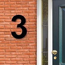 Huisnummer Acryl zwart, cijfer 3, Hoogte 16cm