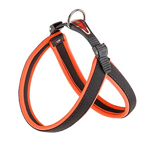 Ferplast Agila Neon 3 Hundegeschirr, Orange, 42 cm x 50 cm x 15 mm