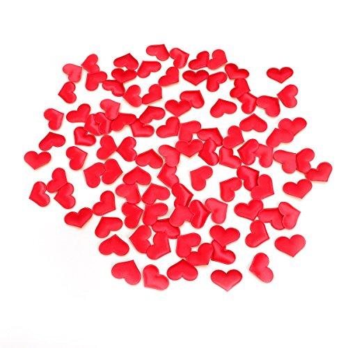 NUOBESTY 100pcs pétales artificiels Forme de Coeur pétales de Fleurs confettis pour Fille de Fleur de Mariage Douche Nuptiale Anniversaire Vase décor