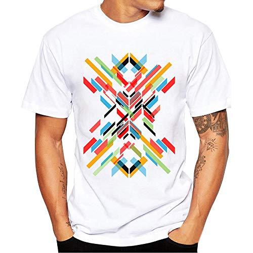 JURTEE Camiseta para Hombre Moda Cuello Redondo Impresión Divertida Remera Manga Corta Blusa Estilo Salvaje Casual Tops