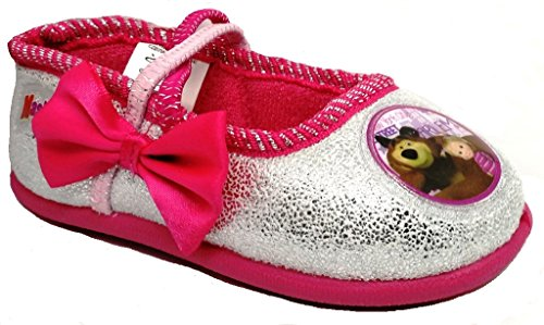 ARNETTA Masha E Orso Pantofole, Ballerine Bimba Art. S18715 Fiocco Fuxia (25)