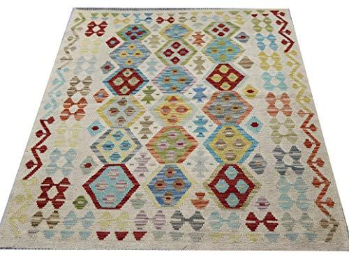 Afghanischer Kelimteppich, handgewebt,...