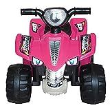 ATAA Quad Raspi - Rosa- Quad para niños y niñas con batería 6v y Potente Motor de 18w