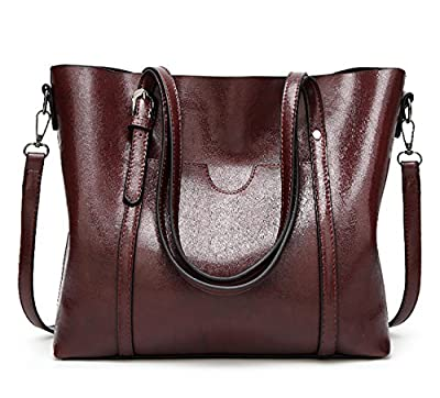 EssVita Sacs à main Femme sacs à bandoulière PU cuir Poignée supérieure Cartable Messager Sac