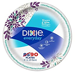 "Dixie Everyday Paper Lunch Plates, 8 1/2"", 90 Ct"