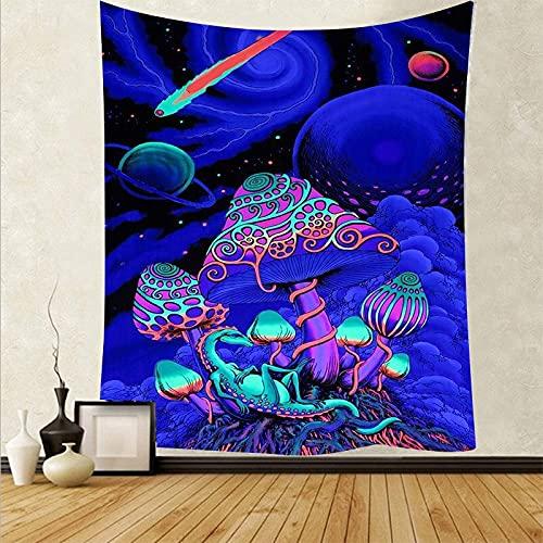 Tapiz de seta psicodélico nórdico tapiz de fondo paño de pared decoración del hogar manta de pared tapiz A7 73x95cm