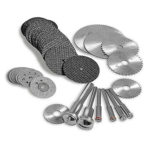 42 Uds hojas de sierra circular disco de corte de madera para carpintería taladro de Metal de diamante herramienta de corte giratoria accesorios de herramientas eléctricas