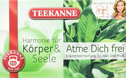 Teekanne Atme Dich frei Kräuterteemischung 20 Beutel, 5er Pack (5x 40 g Packung)