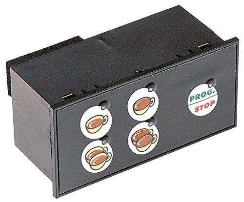 Wega-CMA - Unidad de teclado para cafetera Atlas, OrionEco, Peo 5 teclas, ancho 42 mm, modelo Atlas/OrionEco/EPU1PG, longitud 89 mm