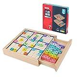 Tablero De Sudoku De Color Madera, Sudoku Colorido Educate Hecho De Madera con 81 Cubos Numéricos, Juego De Sudoku con Cajón Matemáticas Rompecabezas Juguetes De Escritorio HSGAV