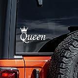 Vool Queen Styling Vinyl Decal Car Truck Laptop Bumper Sticker Decal 8' (White)