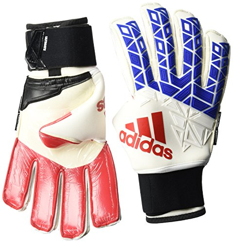 adidas Herren ACE Trans Ultimate Torwarthandschuhe, White/Blue/Red/Core Black, 10