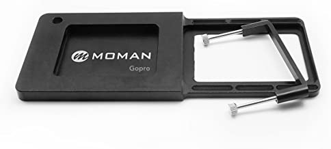 Moman Gopro Adapter Plate for Gopro Hero 6/5/4/3, 80g Weight, Compatible with Zhiyun Smooth-Q Smooth 3, DJI OSMO Mobile 2, MOZA Mini-Mi, Feiyu Vimble Tripod Mount