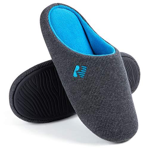 Sapato masculino RockDove leve de dois tons com espuma de memória, Dark Gray & Blue, 11-12