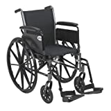 Drive Medical Cruiser III Light Weight Wheelchair with Various Flip Back Arm Styles and Front R…