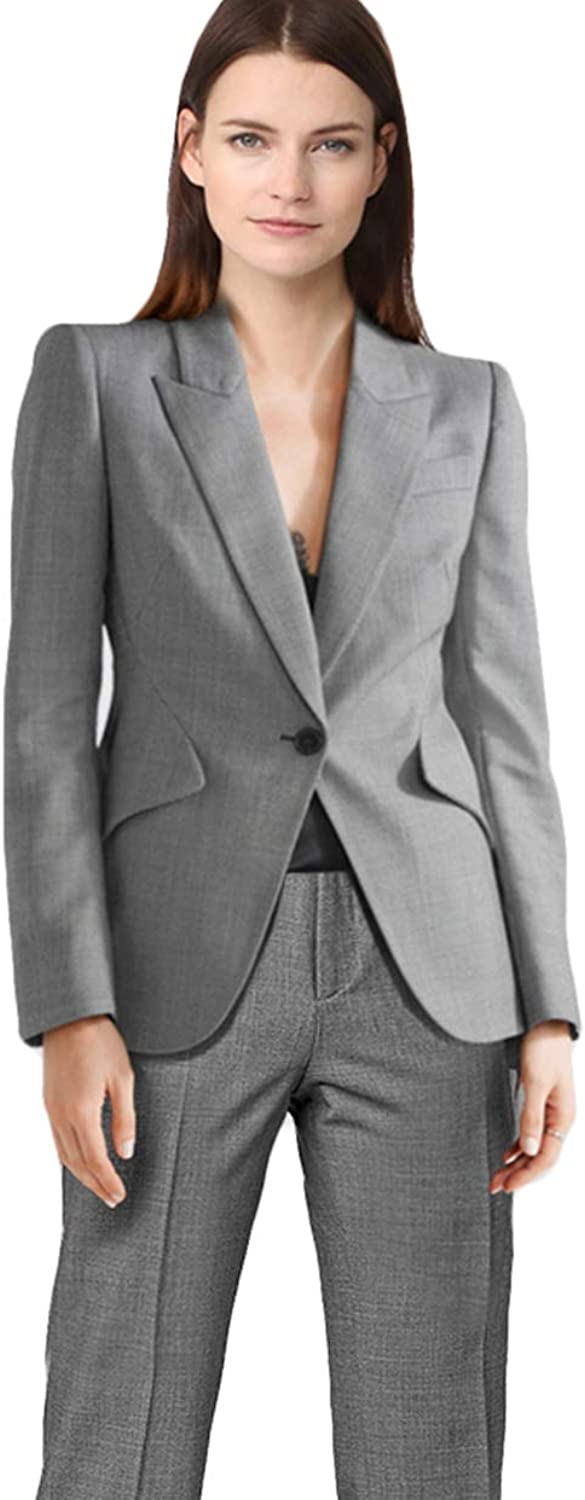 WZW Double Breast Blazer Suits Office Lady Sets Two Piece Long Sleeve Jacket & Pant Outfits