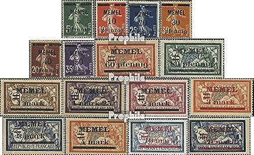 Prophila Collection Memelgebiet 18-33 (kompl.Ausg.) 1920 Freimarken (Briefmarken für Sammler)