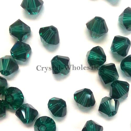 5328/53016mm con Cristalli Swarovski Emerald (205) Genuine Loose bicono Perline * * Spedizione Gratuita da Mychobos (Crystal-Wholesale) * *