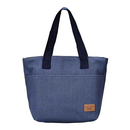 FAMILIZO Portátiles de alimentos bolsas de almuerzo bolsas de almuerzo conveniente paquete (Azul)