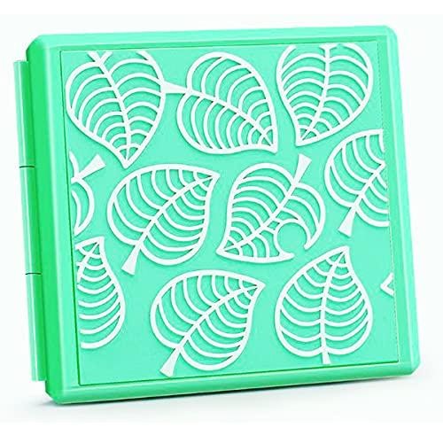 Lucylanker Games Card Storage Case Für Nintendo Switch Lite NS, Tragbar und Dünn, Schutzhülle Aufbewahrungsbox Spiele Cards Tasche,12 Schlitze für Game-Karten und 12 für SD Schlitze (Animal Crossing)