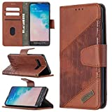 Couverture de cas Étui pour Samsung Galaxy S10 Portefeuille Multifonctionnelle Portefeuille Mobile...