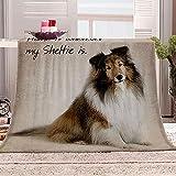 Manta con Estampado Perro Animal Mantas para Sofa Manta de Microfibra Franela Throw de Microfibra Suave cálida y sólida para Cama sofá y Viaje 180x200cm