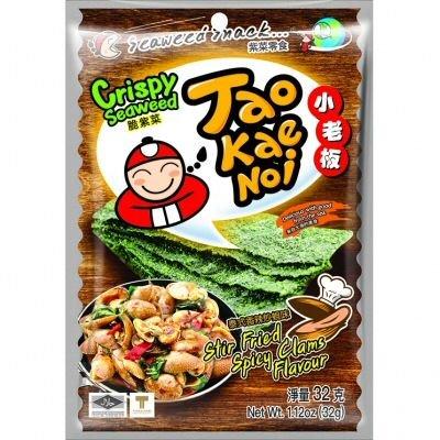 Taokaenoi Seaweed Stir Fried Spicy Clam (Algensnack), 40 g